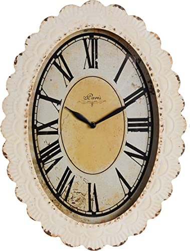 NIKKY HOME Oval Paris Decor Wall Clock