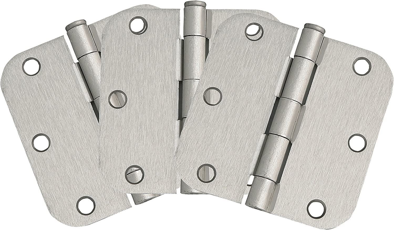 "Design House 181412 3-Pack Hinge 3.5"", Satin Nickel"