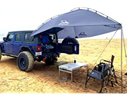 Versatility Teardrop Awning for SUV RVing, Car Camping, Trailer and Overlanding Light Weight Truck Canopy Durable Tear Resist
