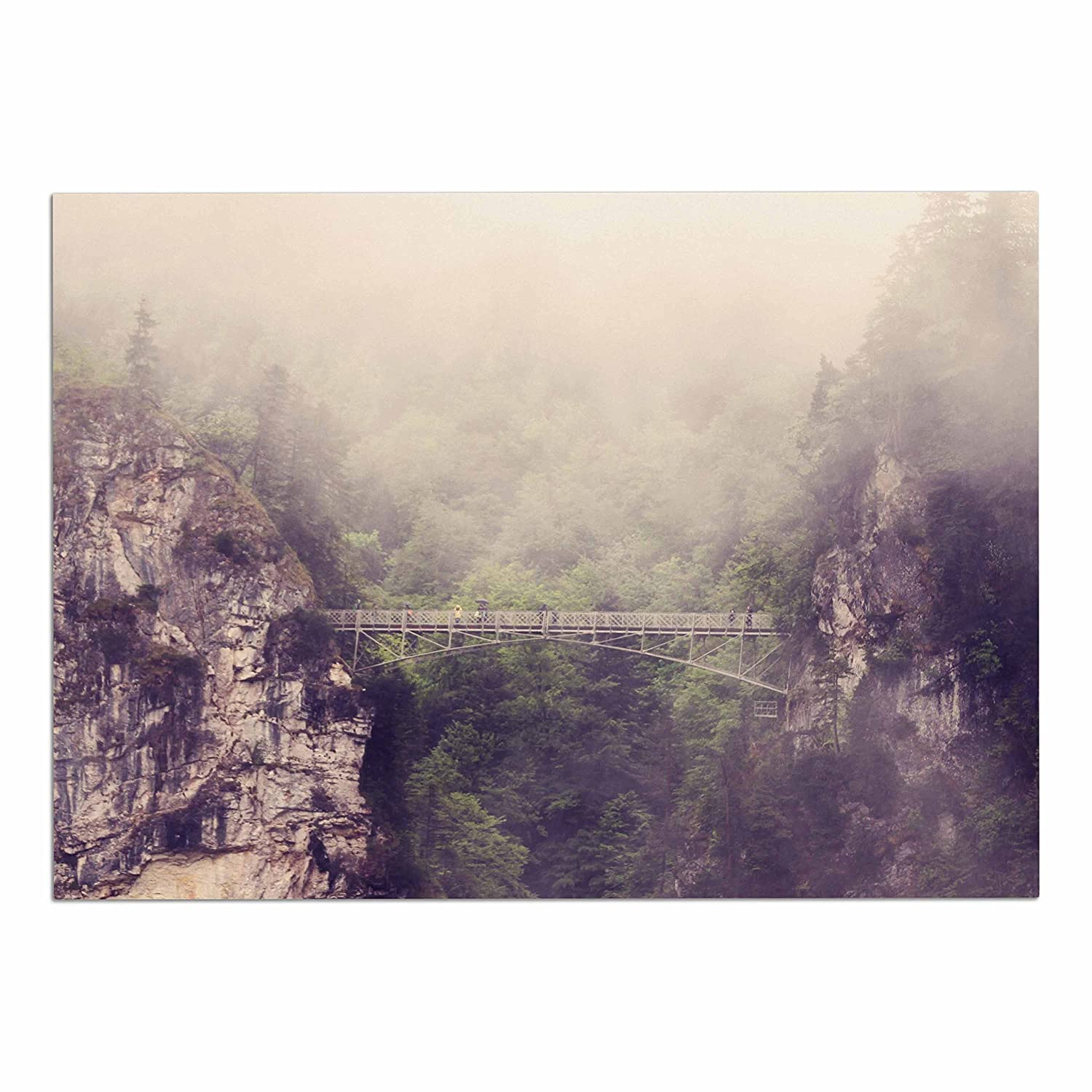 KESS InHouse SC4010ADM02 Sylvia Coomes Foggy Mountain Landscape Brown Green Dog Place Mat, 24  x 15