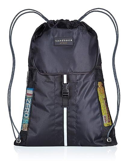 roundhause Premium grande impermeable Unisex cordón Gymsac bolsa Natación PE mochila Gymbag pequeño de deporte mochila