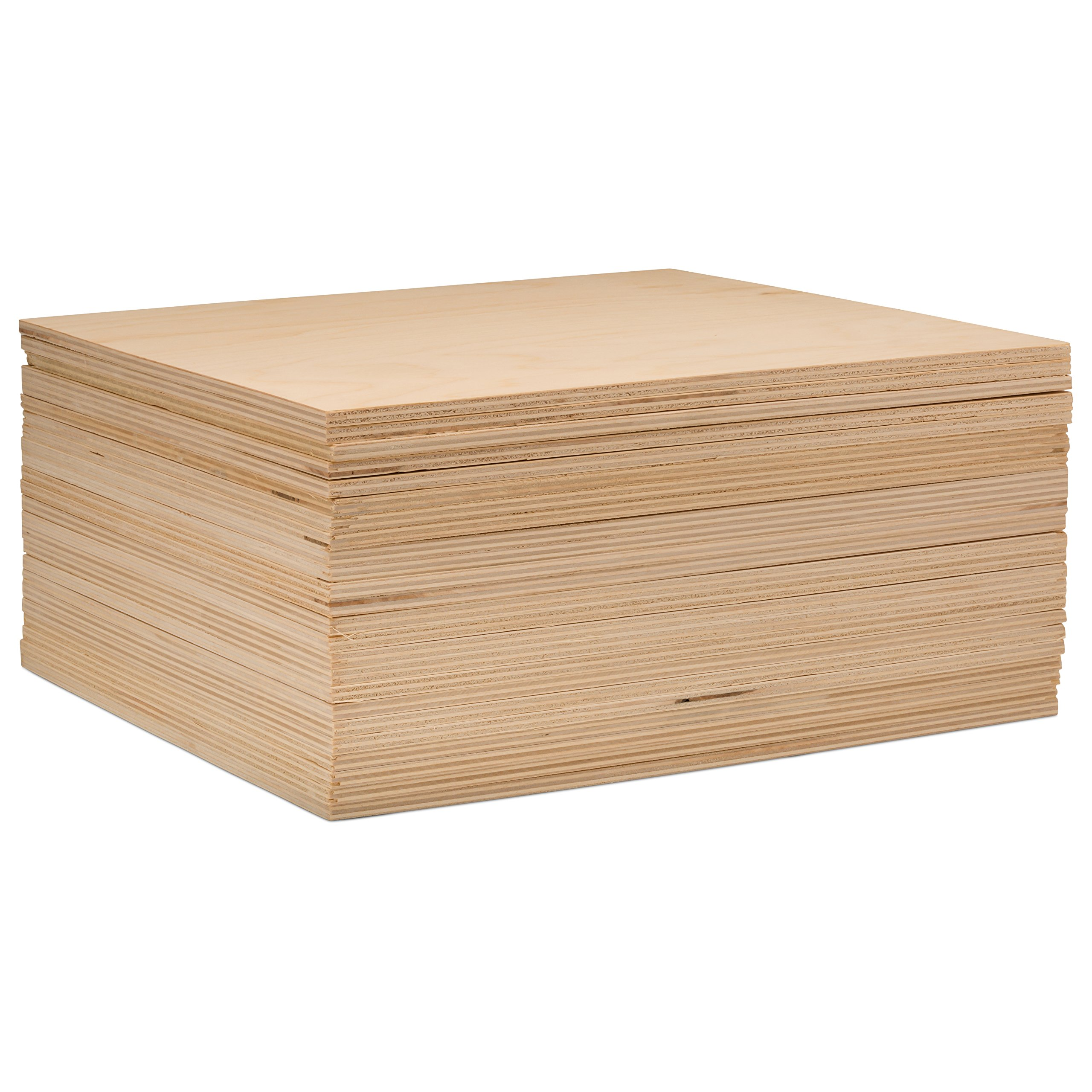 3 mm 1/8'' X 8'' X 8'' Premium Baltic Birch Plywood – B/BB Grade - 8 Flat Sheets by Woodpeckers