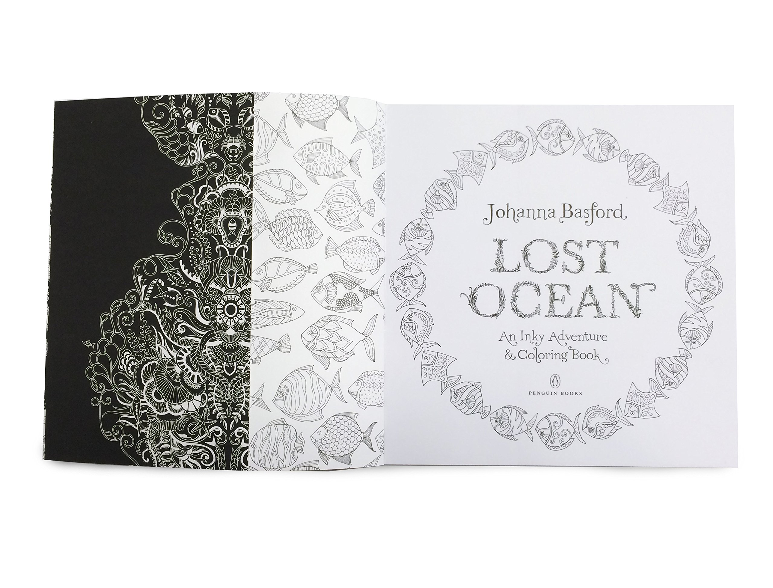Lost Ocean An Inky Adventure And Coloring Book For Adults Johanna Basford 9780143108993 Books