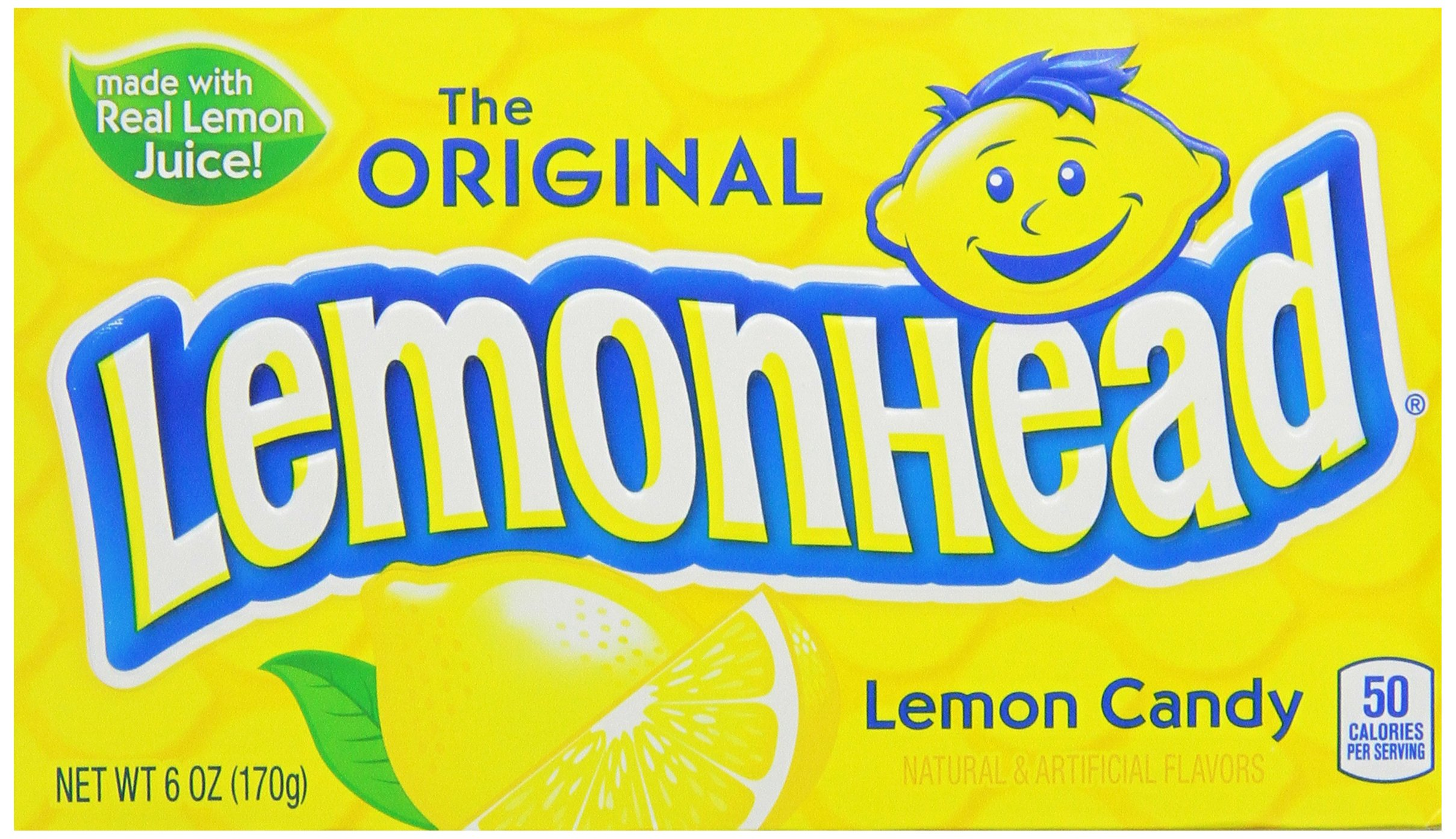 Lemonhead Hard Candy, Lemon, 6 Ounce, Pack of 12 by Candy Crate