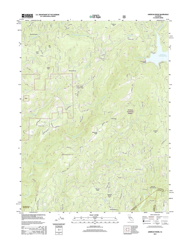 amazon com topographic map poster american house ca tnm geopdf