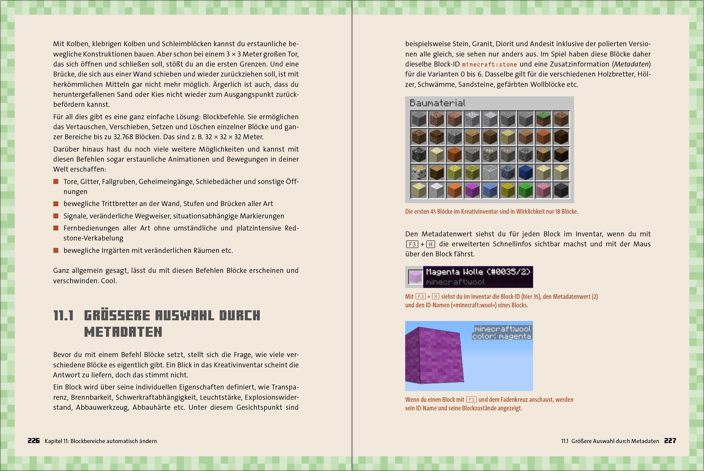 MinecraftCommander Amazoncouk Books - Minecraft spielerkopfe befehl
