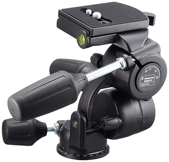 Manfrotto 808RC4 Standard 3 Way Head Tripod Heads at amazon