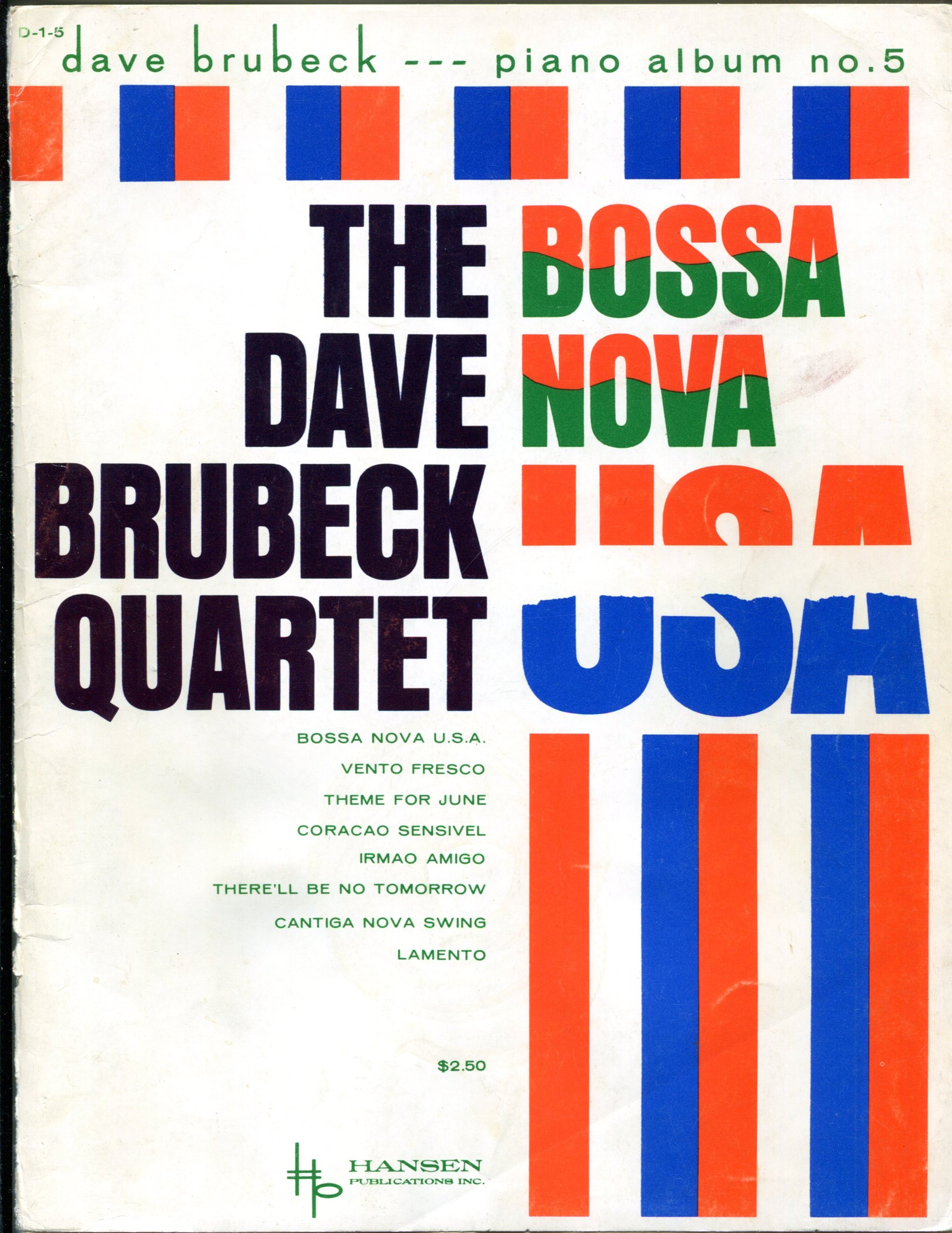 Bossa Nova Usa: The Dave Brubeck Quartet  Piano Solo