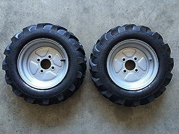 Imbriano Macchine Agricole ruedas de motocultor/motoazada 4.00-10, llantas fijas: Amazon.es: Coche y moto
