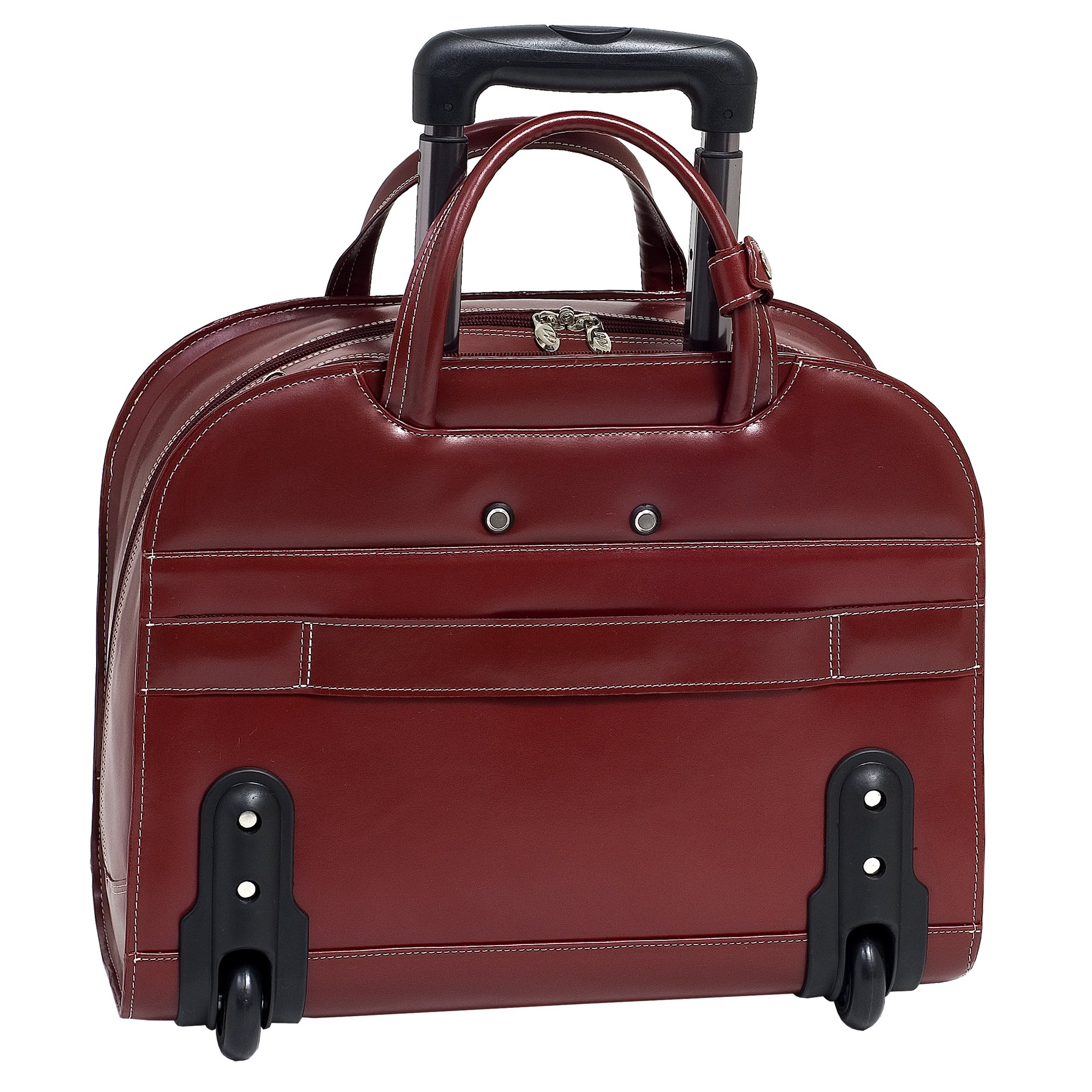 McKleinUSA DAVIS 96186A Red Wheeled Ladies' Laptop Case