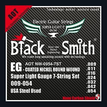 Herrero 9-54 Juego 7 Coated Cuerdas para guitarra eléctrica: Amazon.es: Instrumentos musicales