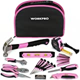 WORKPRO 103-Piece Pink Home DIY Tool Kit Set Kitchen Tools with Pouch