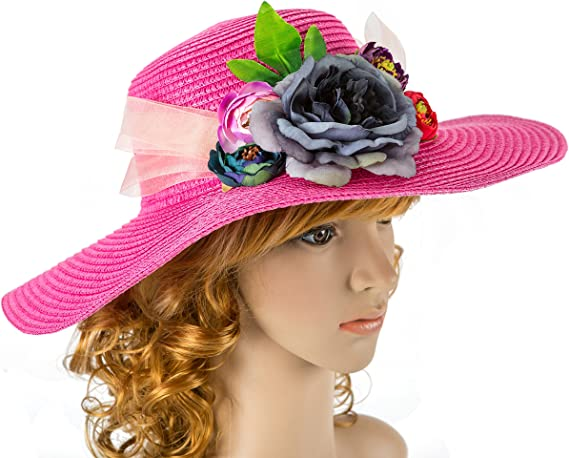 Gorgeous Navy Hatinator wedding hat Melbourne Cup,Ladies Day mother of the bride Kentucky Derby,Royal Ascot Fascinator Pink lily flower
