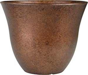 Classic Home and Garden Honeysuckle Patio Pot Garden Planter, 15 Inch, Distressed Copper