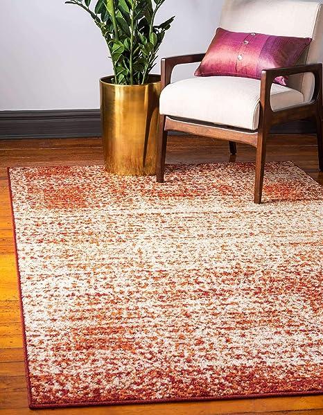 Unique Loom Autumn Collection Casual Rustic Warm Toned Terracotta Area Rug 8 0 X 10 0 Furniture Decor