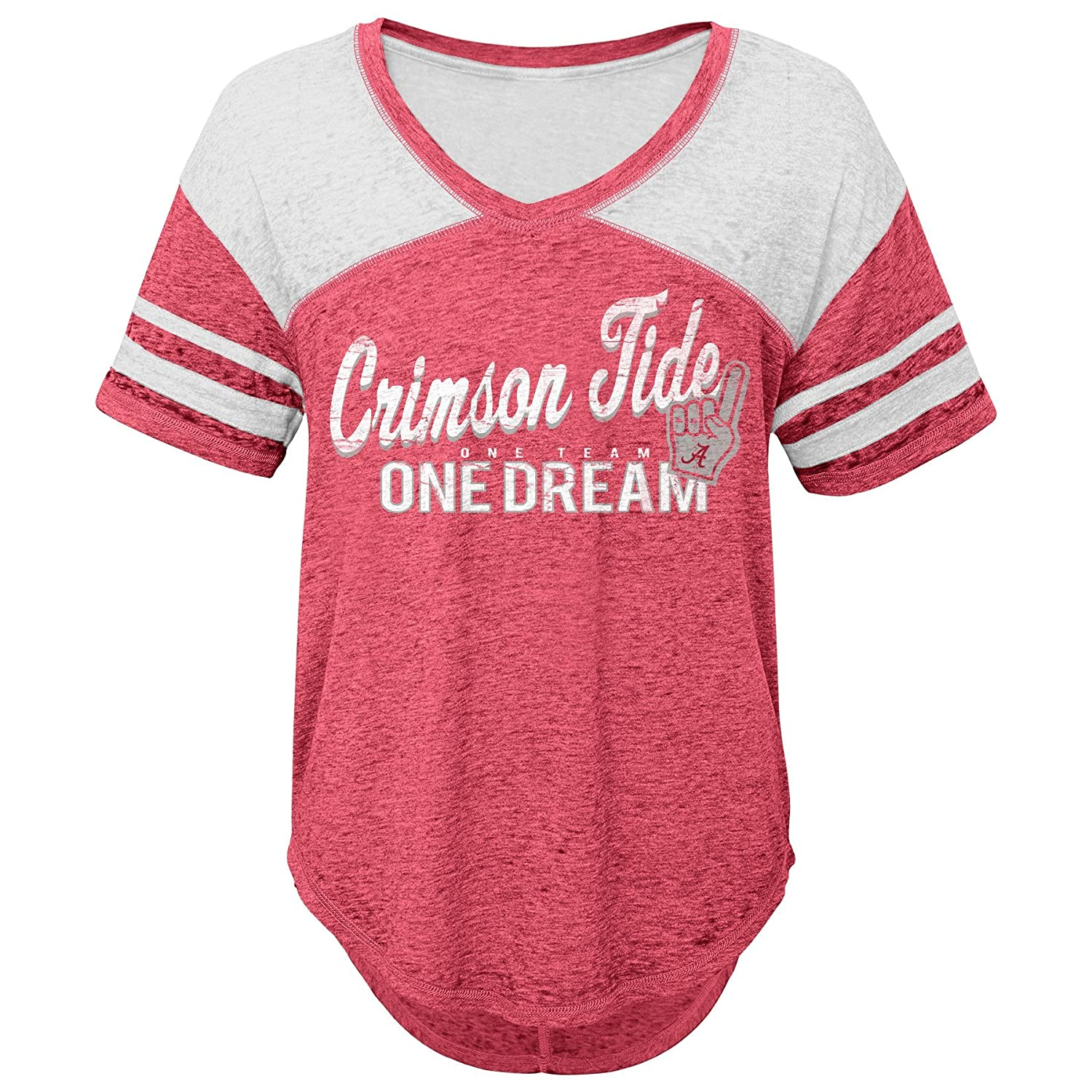 NCAA Alabama Crimson Tide Juniors Outerstuff Vintage Short Sleeve Football Tee 15-17 Team Color X-Large