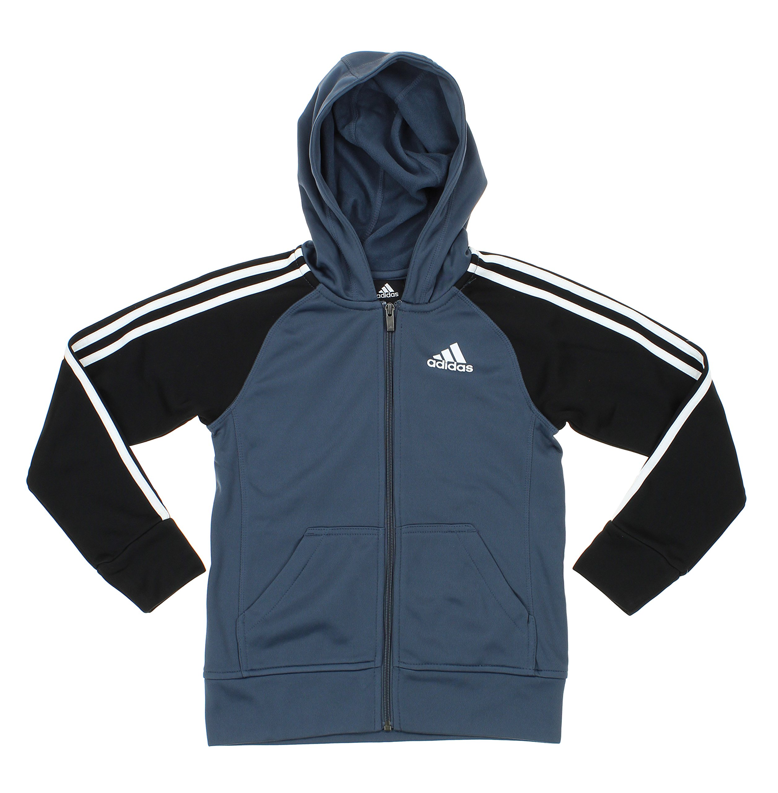 Adidas Youth Big Boys Full Zip Tech Fleece Hoodie, Grey