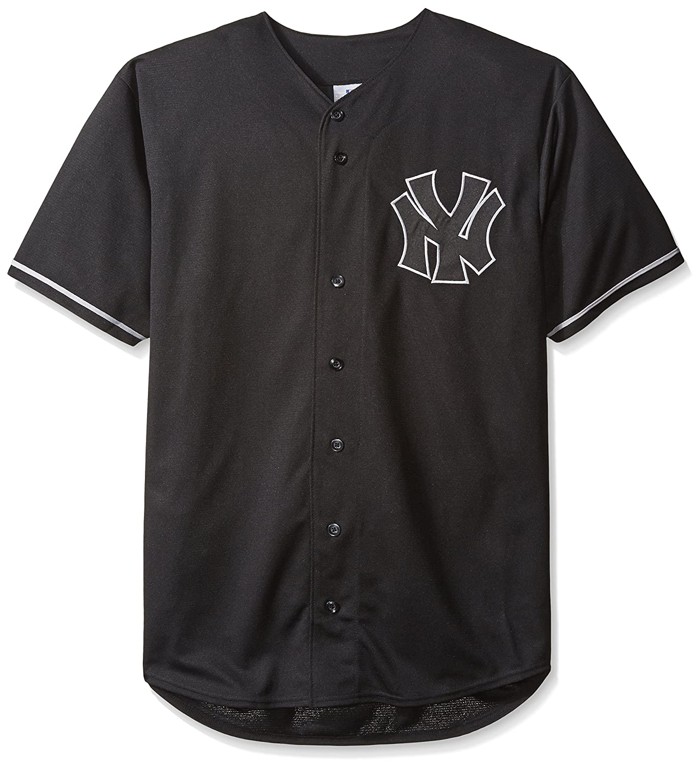 016bc8106 best MLB New York Yankees Men's Short Sleeved Texture Replica Jersey with  Pop Applique, 4X