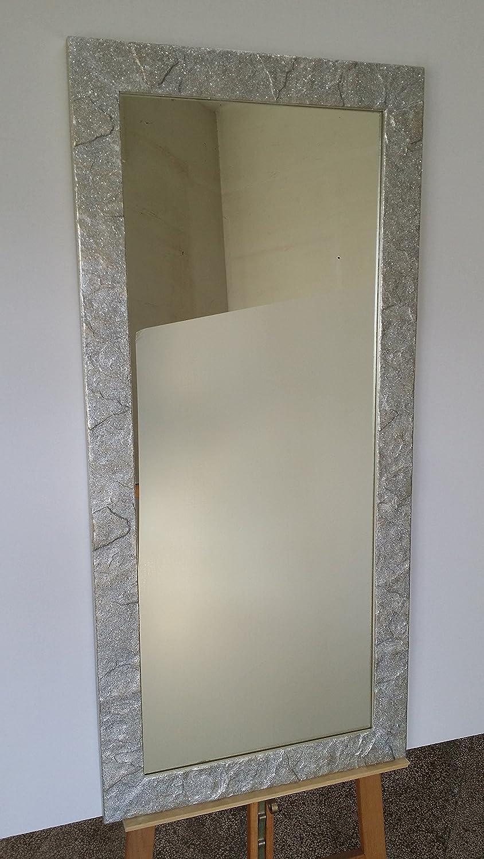 Specchio Con Cornice Ghiaccio Con Bottoni