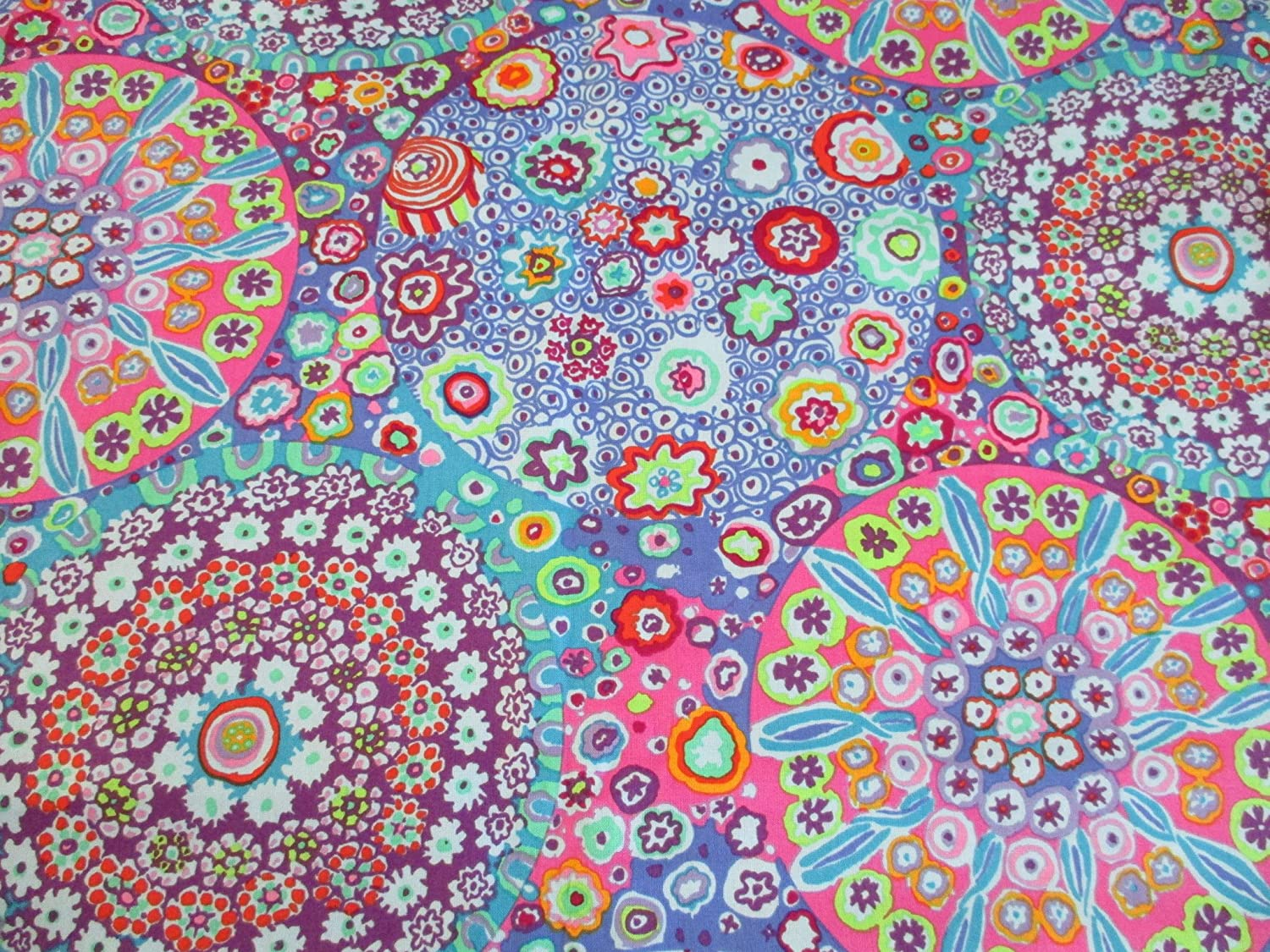 Amazon.com: Free Spirit Fabrics Kaffe Fassett Millefiore Aqua Fabric by The Yard