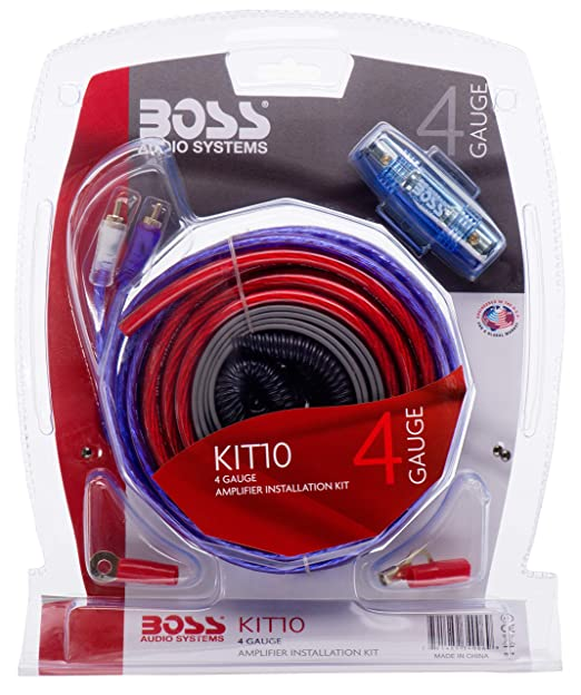 amazon com boss audio kit10 4 gauge amplifier installation wiringboss audio kit10 4 gauge amplifier installation wiring kit \u2013 a car amplifier wiring kit helps