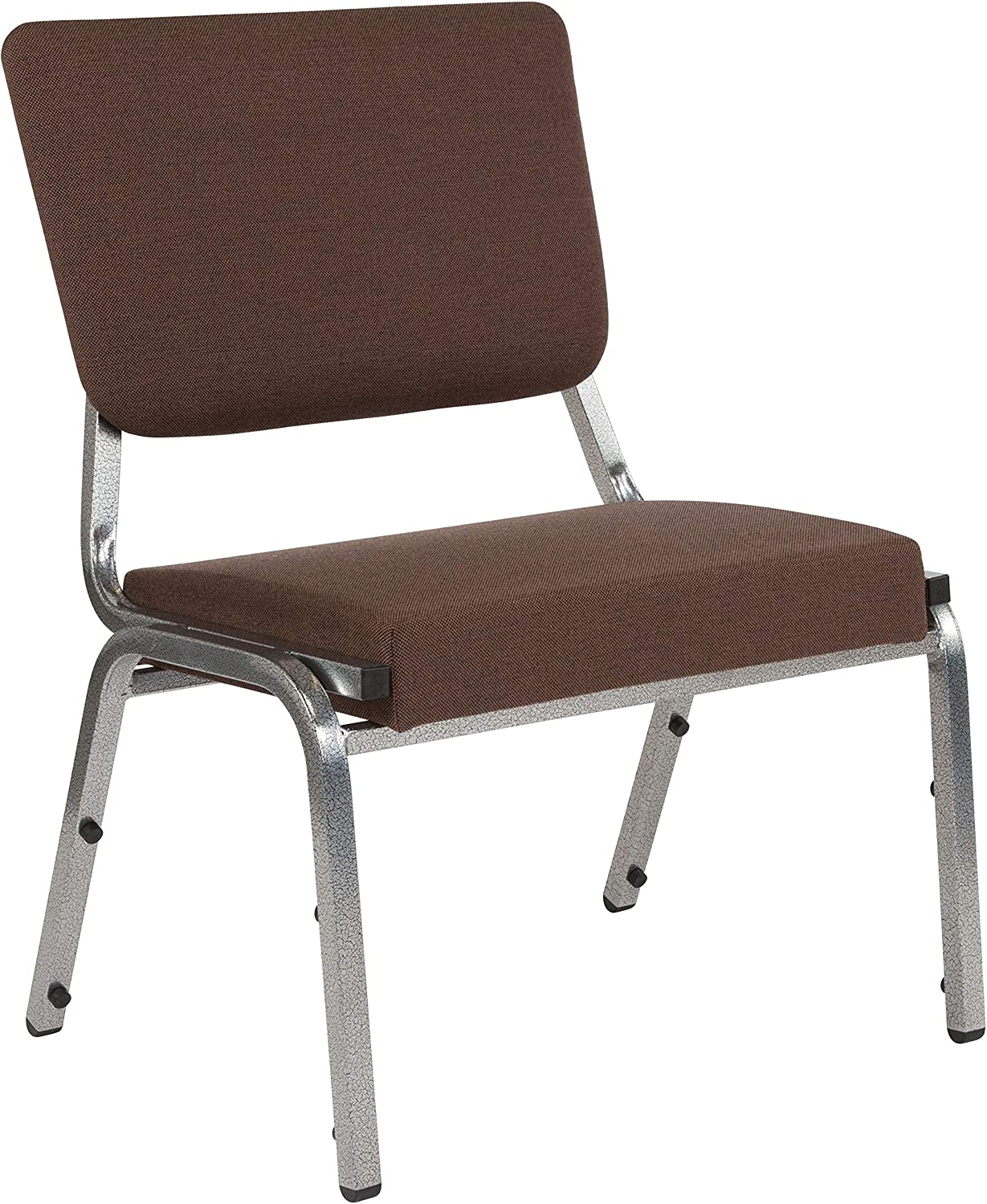 Flash Furniture HERCULES Series 1500 lb. Rated Brown Antimicrobial Fabric Bariatric Medical Reception Chair with 3/4 Panel Back