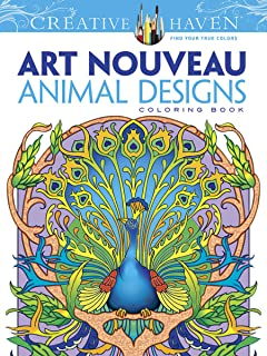 dover creative haven art nouveau animal designs coloring book adult coloring - Zentangle Coloring Book