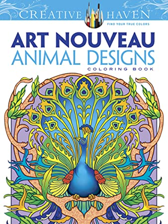 dover creative haven art nouveau animal designs coloring book adult coloring - Dover Coloring Books For Adults