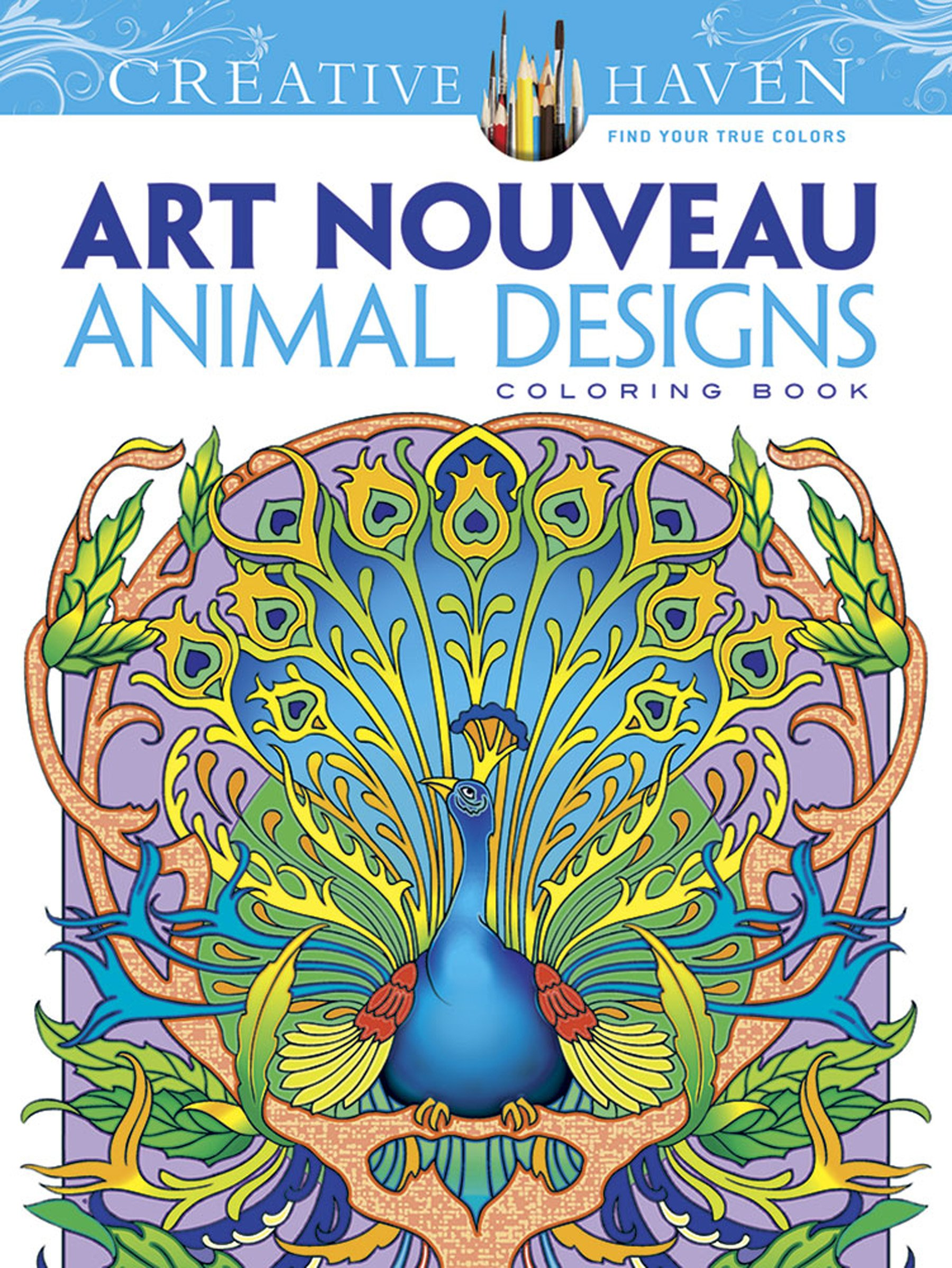 - Dover Creative Haven Art Nouveau Animal Designs Coloring Book