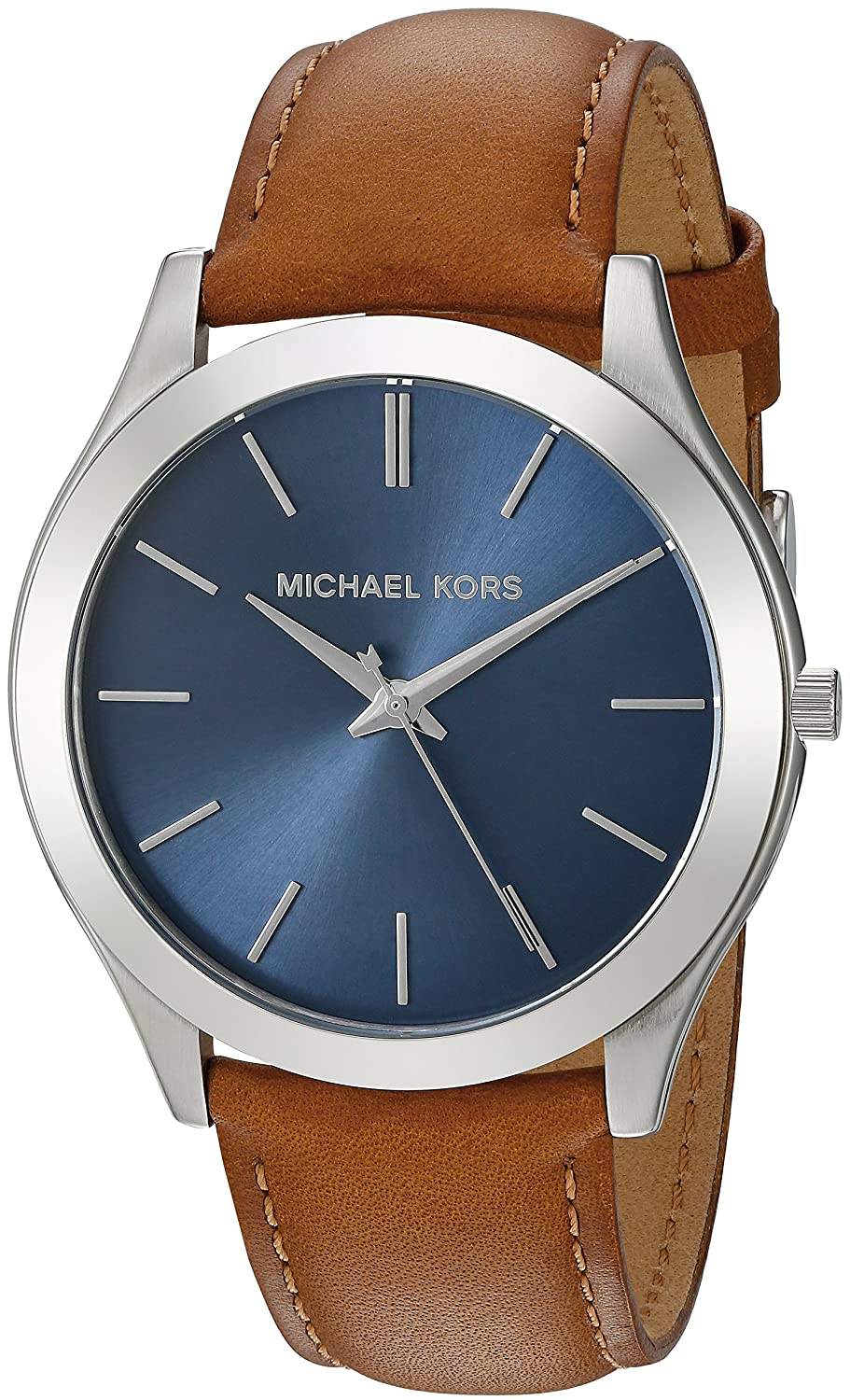 6e757f28c838 Michael Kors Men s Quartz Stainless Steel and Leather Automatic Watch
