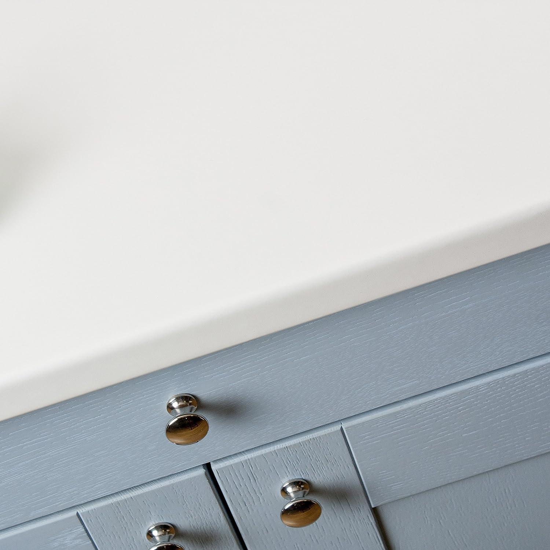 WORKTOPEXPRESS White Matt Effect Laminate Kitchen Worktop (Worktop ...