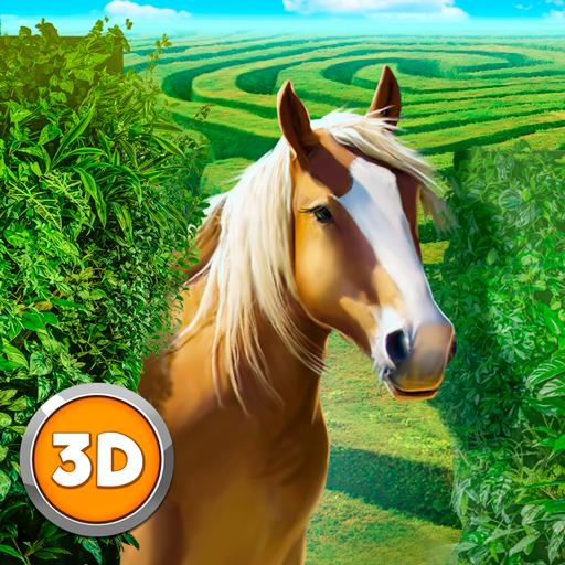 Wild Horse Maze Dungeon Simulator: Horse Quest Animal Surviving Game   Labyrinth Maze Running