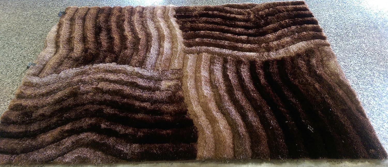 Amazon.com: RUGADDICTION Hermosa Alfombra Color Café hecha a mano estilo moderno suave y lujosa , gruesa pila de tamaño 60