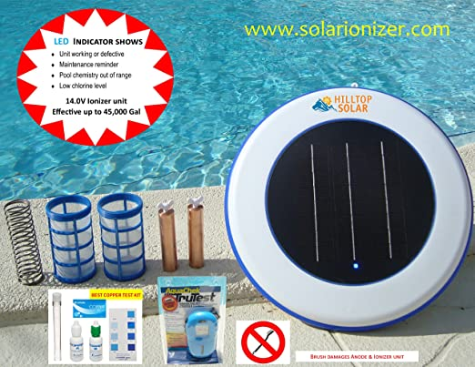 Solar piscina Purificador/ionizador Solar (14.0 V -4.5 X más ...