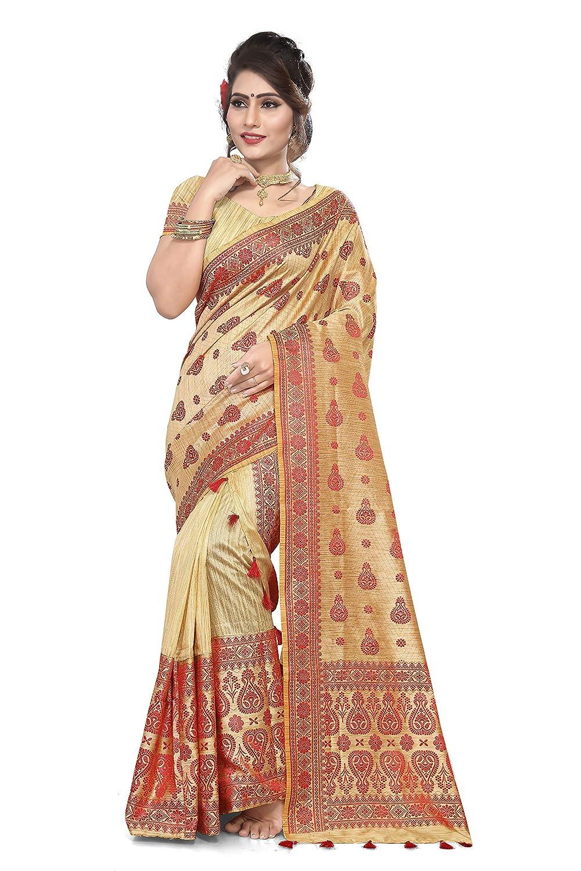S. Kiran's Assamese Art Khadi Weaving Mekhla Chador Saree - Mekhela Chadar