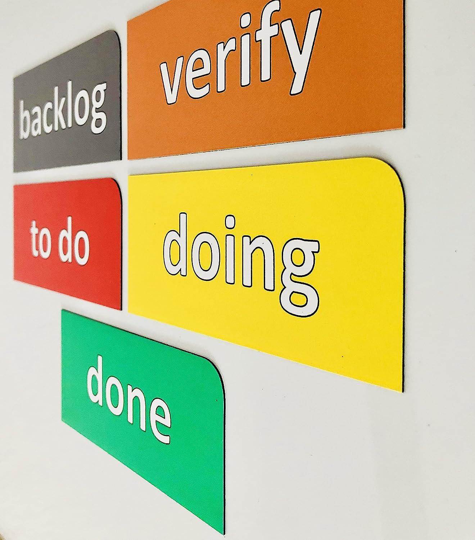 Doing done//P to do verify es 5/magnetische Scrum carte//13,5/cm di larghezza e 6/cm di altezza//backlog Scrum Board, Kanban, Lavagna, agiles, Lean, Task Board per agiles progetto management