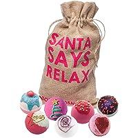 Bomb Cosmetics Santa Says Relax handgemaakte geschenkverpakking voor Hessische badblaster [7-delig], 1,1 kg
