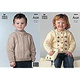 7726c5ffc King Cole Children s Sweaters Opium Knitting Pattern 3749  Amazon.co ...