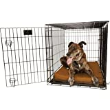 "Orthopedic 4"" Dog Crate Pad by Big Barker. Waterproof & Tear Resistant. Thick, Heavy Duty, Tough, Washable Cover. Luxury Orthopedic Support Foam inside. Sized to perfectly fit inside standard crate sizes. Made in USA."
