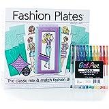 Fashion Plates Design Set with Gel Pens