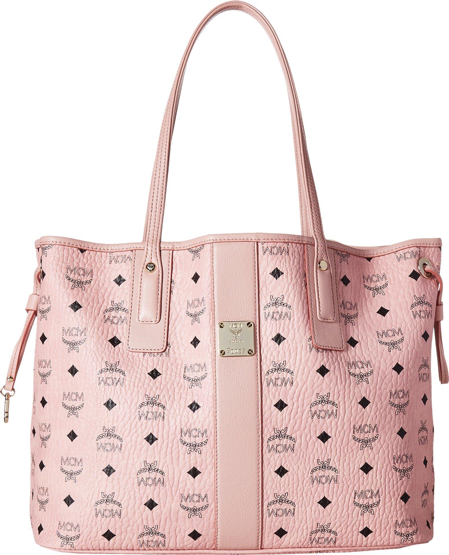 MCM Women's Liz Shopper Tote, Soft Pink, One Size