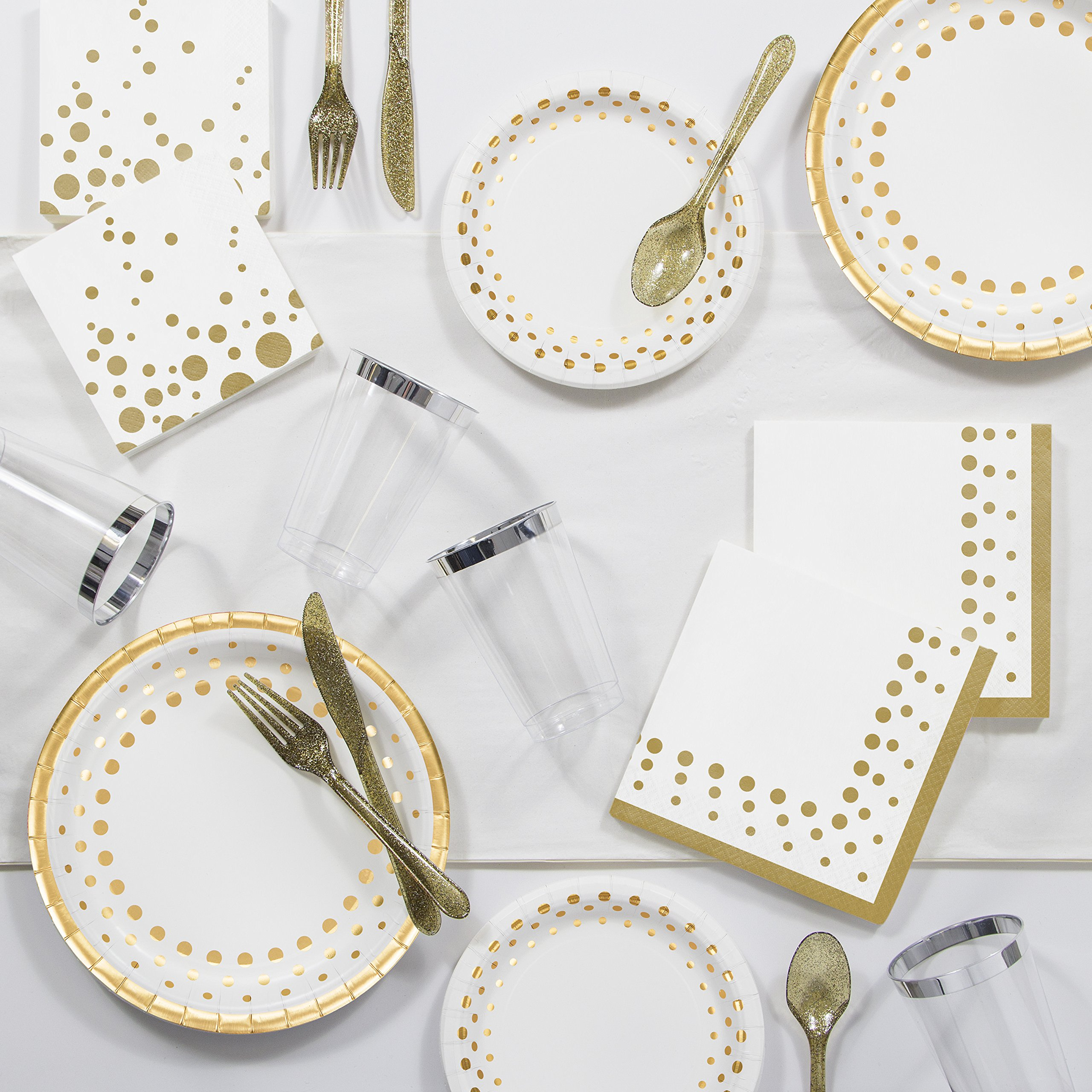 Sparkle and Shine Gold Party Supplies Kit