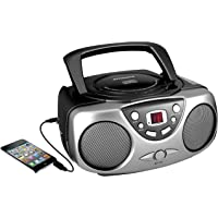 $21 Get Sylvania SRCD243 Portable CD Player with AM/FM Radio, Boombox (Black)