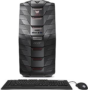 Acer Predator Desktop, Intel Core i7, GeForce GTX 1080, 16GB DDR4, 256GB SSD, 2TB HDD, Win 10, AG6-710-70016