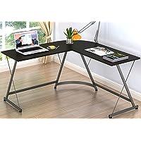 Deals on SHW L-Shaped Home Office Corner Desk Wood Top