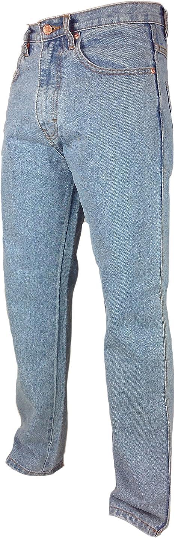 MENS REGULAR FIT Plain Denim Jeans 28-48 L27 29 31 33 Blue Pants Straight Leg
