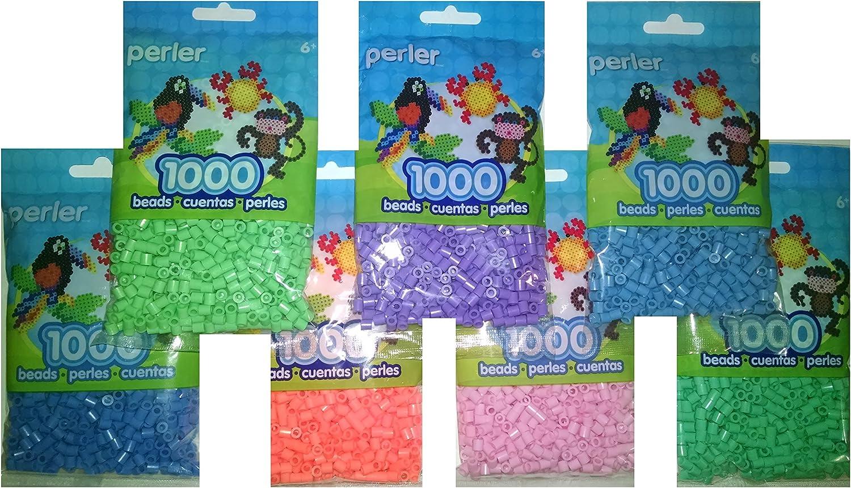 Dark Blue, Light Blue, Pastel Blue Perler Bead Bag Group