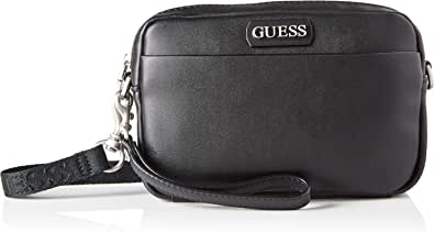 Guess Dan PU Small Necessaire, Bags Briefcase para Hombre, Negro, Talla única