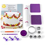 Wilton - Kit de decoración para tartas con formas de fondant, 14 piezas, kit de decoración de tartas con 3 recortes de fondan