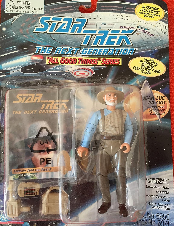 Star Trek The Next Generation Jean-Luc Picard Retired Starfleet Captain 4 inch Action Figure